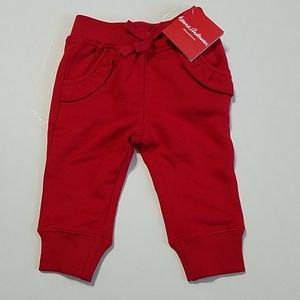 Hanna Andersson red jogger pants with pockets